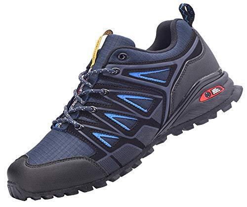 Eagsouni Laufschuhe Herren Damen Traillaufschuhe Sportschuhe Turnschuhe Sneakers Schuhe für Outdoor Fitnessschuhe Joggingschuhe Straßenlaufschuhe, Blau, 42 EU