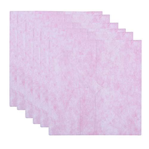 Artibetter 100 Stück Nasenschlitztücher Atmungsaktive Vliesstoffe Einweg-Auflagen Hygieneauflagen Kopfstützen Massage Gesichtsauflage für Massageliege Spa Massage Behandlungsliege Rosa