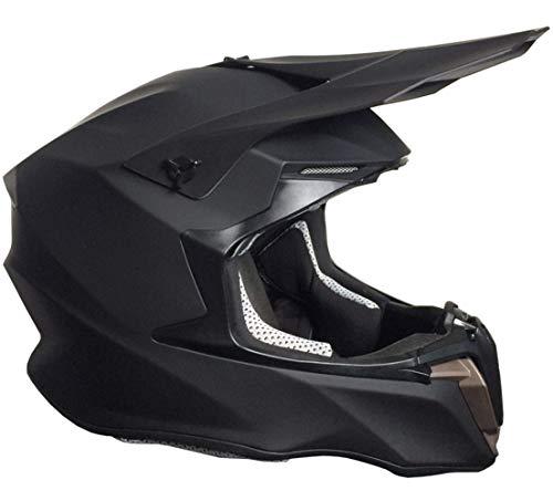 Crosshelm Motocross Downhill Enduro Helm Integralhelm Motorradhelm RALLOX 806 matt schwarz Größe L