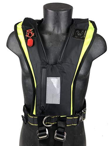 CERTEC Rettungsweste, aufblasbar, Rafal, Schwarz und Gelb