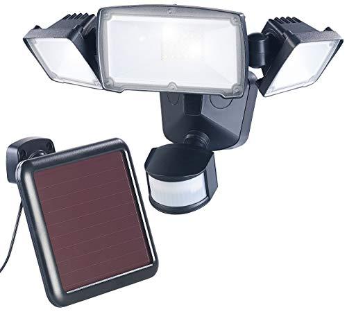 Luminea Bewegungsmelder Solar: 3-Fach-Solar-LED-Fluter für außen, PIR-Sensor, 32 W, 1.500 Lumen, IP44 (Solar Flutlicht)