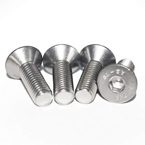 (25 Stück) -M8x20mm ISO 10642 A2 V2A Senkschrauben mit Innensechskant DIN 7991