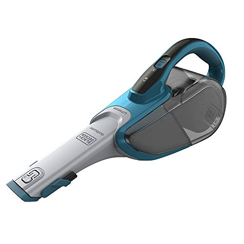 Black+Decker Lithium Dustbuster DVJ320J mit Cyclonic Action – 10,8V Akku Handstaubsauger, ausziehbare Fugendüse & Polsterbürste – Beutelloser, kabelloser Staubsauger – Lange Saugdüse – Meeresblau
