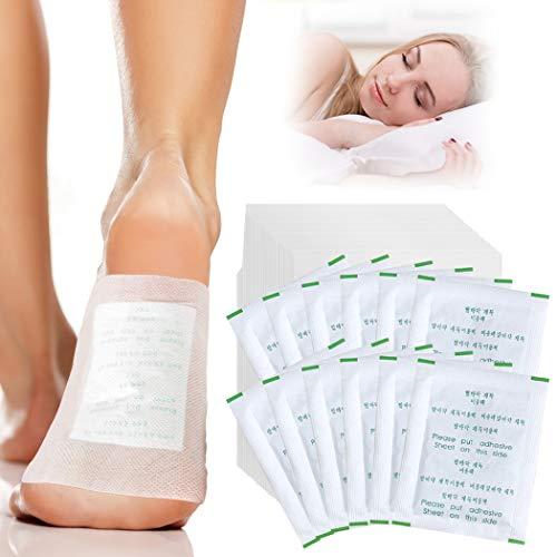 Detox Fußpflaster, Fanspack 100 Stück Detox Pflaster Natürliche Bambuskohle Fußpolster Detox Vitalpflaster Stressabbau, fördert die Durchblutung und lindert Müdigkeit