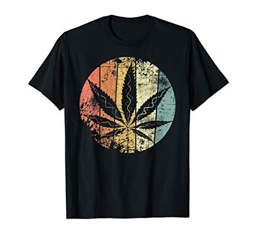Cannabis Hanf Retro Hanfblatt Weed Vintage Kiffer Gras T-Shirt