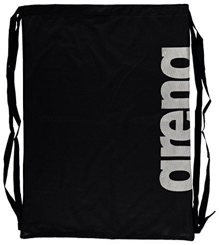 arena Unisex 2-in-1 Netztasche Rucksack Mesh Bag (Schnelltrocknend, Kordelverschluss), Black Tem (51), One Size