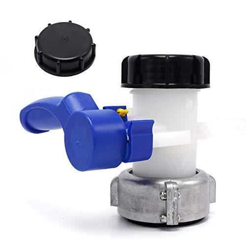 CABINA HOME IBC Wassertank Adapter Universal Klappenhahn Wassertank Schlauchanschluss Auslaufhahn Adapter Für Wassertank Ablasshahn,Regentonne,Kanister,Container (75mm)