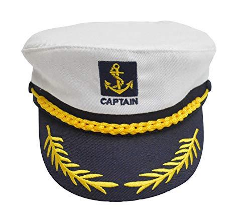 Okwin Kapitänsmütze Kinder Hüte Mütze Baumwolle Sommermütze Verstellbare Matrosen Mütze Geeignet für Verschiedene Mottopartys