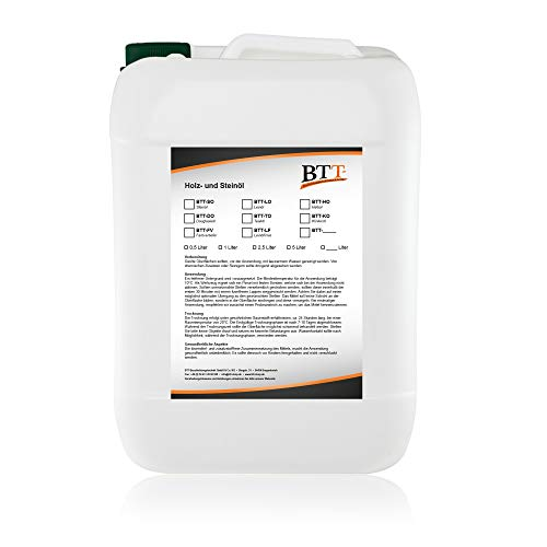 BTT-SO Natur Steinöl (10 Liter) zum Witterungsschutz, Versiegelung und Imprägnierung von Natursteinen, Pflastersteinen, Schiefersteinen und Ziegelsteinen