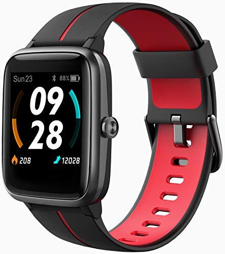Blackview 205G Smartwatch mit GPS, Smart Armbanduhr Herren Damen Fitness Tracker Smart Watch 5ATM Wasserdicht Fitnessuhr mit Schwimmüberwachung Pulsuhr Wearable Sportuhr Kompatibel iOS Android Handy