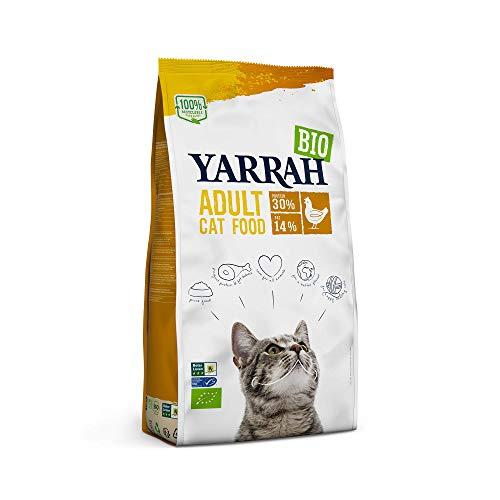 YARRAH Bio Katzenfutter trocken | Hochwertiges Premium Trockenfutter für Katzen | Hoher Nährstoffanteil | Futter für Katzen ab 12 Wochen mit Bio-Huhn, 2.4kg