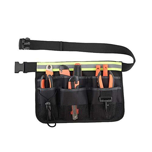 Gartenwerkzeug-Schürze, Gartenwerkzeuggürtel mit Taschen, verstellbarer Werkzeuggürtel mit 7 Fächern, hängende Tasche für Haus, Garten - YB23
