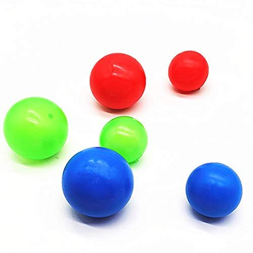 COTTILE 4 Stück Sticky Wall Balls Dekompressionsspielzeugbälle Flummi, Anti Stressball, Wurfball, Knetball, Knautschball aus Schaumstoff
