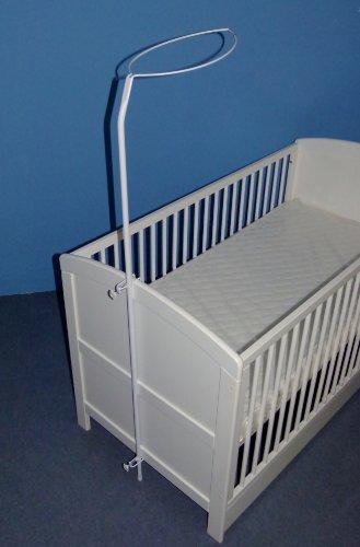 Belly and Boobs - Himmelstange für Baby Kinderbett in weiß ca. 1,50 m hoch