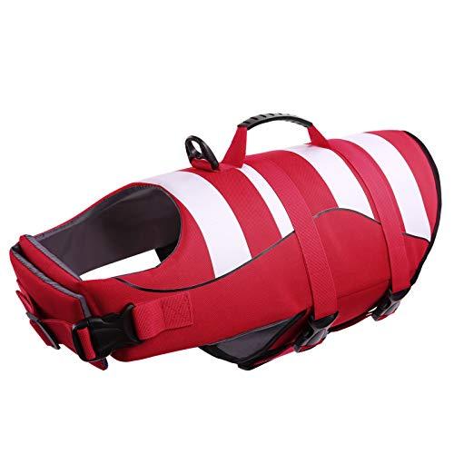 CITÉTOILE Schwimmwesten für Kleine Hunde mit Griff, Guter Auftrieb, Verstellbare, Leichte, Atmungsaktive und Bequeme, Schützen Sie Hunde beim Schwimmen im Meer/See/Fluss, XS