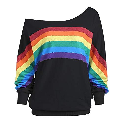 Fairy Costume Damen Teenager Lose Regenbogen Drucken Langarm Sweatshirt Mode Pullover Tops Langarmshirt Oberteile