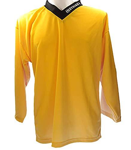 Instrike Trainings-Trikot Eishockey Spieler XS gelb Jersey für Eishockey und Inline hochwertig und Funktions-Aktiv für Kinder