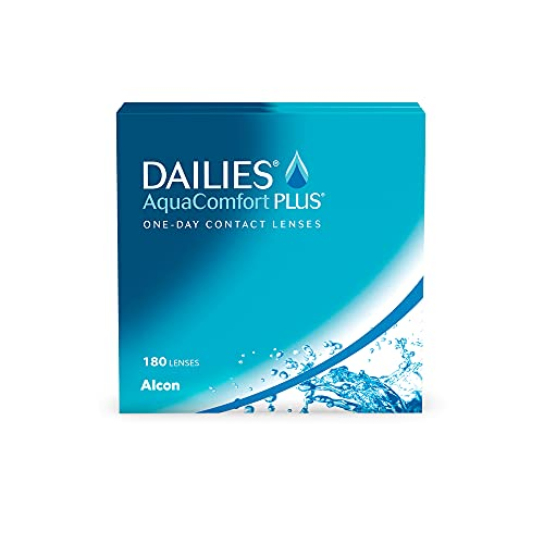 DAILIES AquaComfort Plus 1-Tages-Kontaktlinsen, 180 Stück, BC 8.7 mm, DIA 14.0 mm, -3.25 Dioptrien