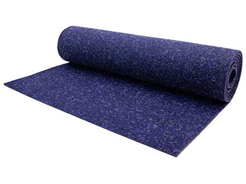Nadelfilz Meterware TURBO B1 – Blau, 2,00m x 4,00m, Antistatische Zertifizierte Auslegeware, Schalldämmender Nadel-Vlies Bodenbelag, Teppichboden
