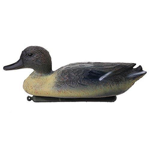 HomeDecTime Gartenteich Enten Teich Deko Teichenten Tierfigur Teichfiguren Schwimmend - Gelb
