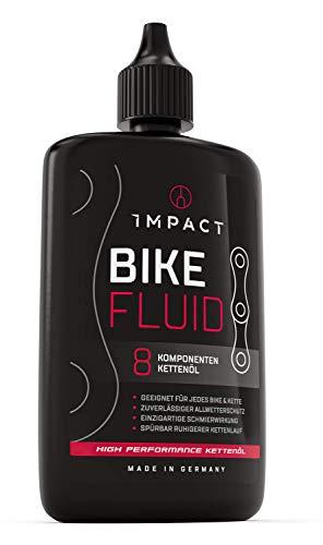 IMPACT Kettenöl Fahrrad - 120ml - Einzigartiges 8 Komponenten Fahrrad Kettenöl für Dein Bike - Zuverlässiger Allwetterschutz für E-Bike Mountainbike & Rennrad - Fahrradketten Öl Made in Germany