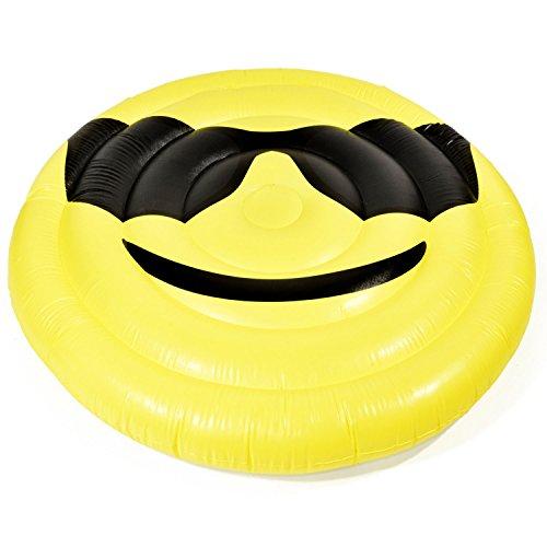 GOODS+GADGETS Aufblasbare Matratze Smile Luftmatratze XXL Badeinsel Schwimminsel Luftbett 150 cm