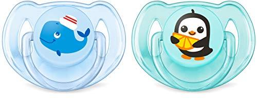 Philips AVENT SCF169/37 Schnuller Klassik Sea, 6-18 Monate, für Jungen, blau