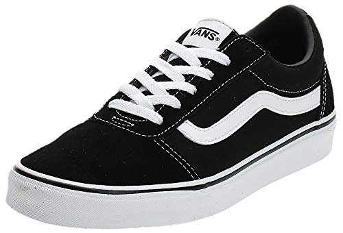 Vans Damen Ward Suede/Canvas Sneaker, Schwarz ((Suede/Canvas) Black/White Iju), 39 EU