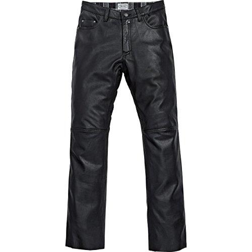 Spirit Motors Motorrad Jeans Motorradhose Motorradjeans Klassik Lederhose 1.0 schwarz 46, Herren, Chopper/Cruiser, Sommer