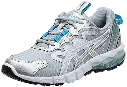 ASICS Damen Gel-Quantum 90 Sneaker, Pure Silver/Aizuri Blue, 39 EU
