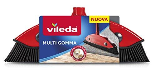 Vileda 159821Besen Multi Gummi, andere, rot / schwarz