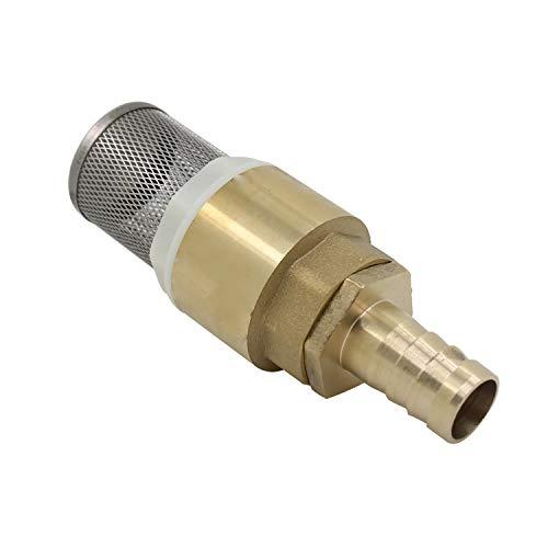 Rückschlagventil für saugschlauch Schraubengewinde 1/2 3/4 1 zoll mit Schlauchanschluss 12 16 19mm - Rückschlagventil mit saugkor für pumpe (Schraubengewinde 1/2 zoll + Schlauchanschluss 12m)