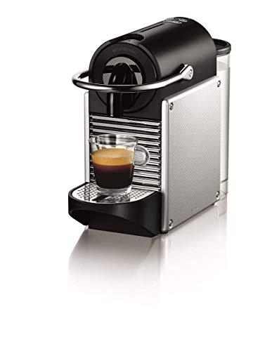 De'Longhi Nespresso EN 125.S Kapselmaschine Pixie Electric Aluminium   1260 Watt   0,7 Liter   Mit beleuchtetem Kaffeekapsel-Sammelbehälter
