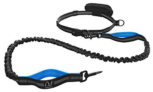 Happilax Joggingleine für Hunde, elastische und reflektierende Hundeleine zum Joggen mit Bauchgurt, 120-220 cm