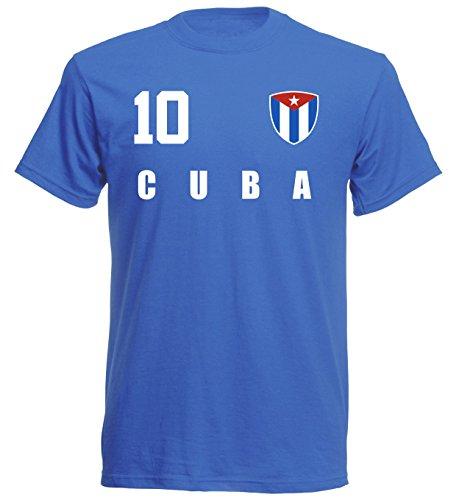 Kuba WM 2018 T-Shirt Trikot Style - Blau ALL-10 - S M L XL XXL (2XL)
