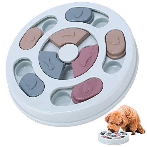 Charfia Hundespielzeug Intelligenz, Hundepuzzle Spielzeug Hunde Lernspielzeug, interaktive Treat Dispenser Puzzle Hundespielzeug, Langsamer Feeder Verbesserung der IQ Puzzle Bowl für Welpen (Blau)