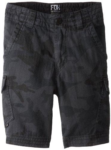 Fox Slambozo Cargo-Shorts für große Jungen, Grau Camo, Größe 22