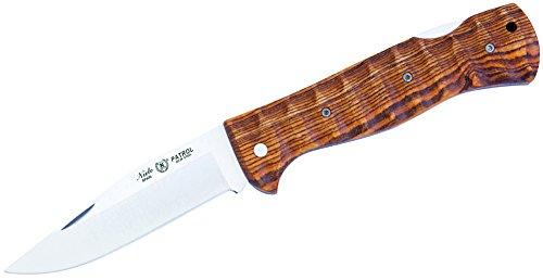 Nieto Erwachsene Taschenmesser Patrol, AN.58 Stahl, Back Lock, Bocote-Holzgriffschalen, verzierte Platinen, Mehrfarbig, 21.7 cm