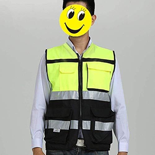 Multifunktionale reflektierende Kleidung Weste Reflektierende Sicherheit Reflektierende Motorrad-Jacken Sicherheitsweste mit Taschen Reflektierende Sicherheits Overalls 1yess
