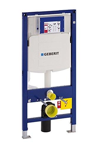 Geberit Vorwandelement Duofix, 111300005, für Wand-WC, mit 2-Mengen-Spültechnik, Spül-Stopp-Funktion, Schwitzwasser-isolierter, Stahlkonstruktion, 65178 3