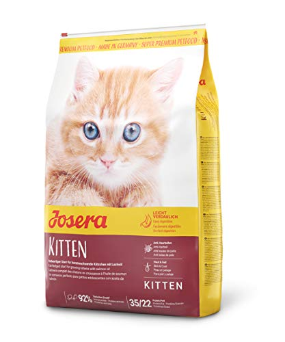 JOSERA Kitten (1 x 10 kg)   Katzenfutter für eine optimale Entwicklung   Super Premium Trockenfutter für wachsende Katzen   1er Pack