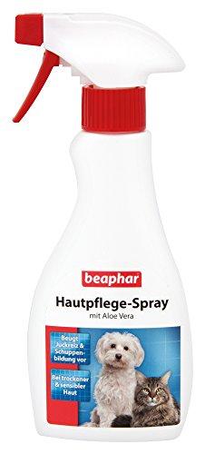 beaphar Hautpflege Spray für Hunde und Katzen   Gegen trockene und schuppige Haut   Beugt Juckreiz vor   Mit Aloe Vera & Nachtkerzenöl   250 ml Sprühflasche