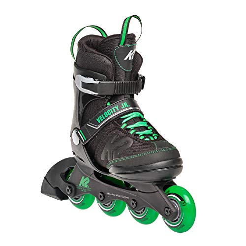 K2 Inline Skates VELOCITY JR BOYS Für Jungen Mit K2 Softboot, Black - Green, 30E0281