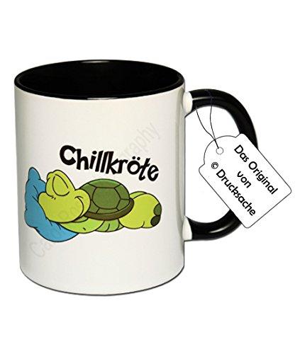 Carol Rose Photography Spruchtasse Funtasse Schildkröte Kaffeebecher Henkelbecher Tasse mit Spruch Teetasse Kaffeetasse Tasse mit Aufdruck Chillkröte
