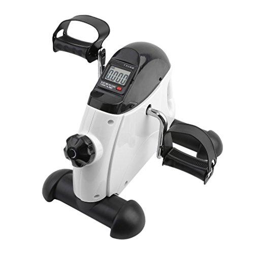 Alter-C-DJ Mini-Bike Heimtrainer Arm und Beintrainer Pedaltrainer Bewegungstrainer mit Trainingscomputer für Erwachsene und Senioren