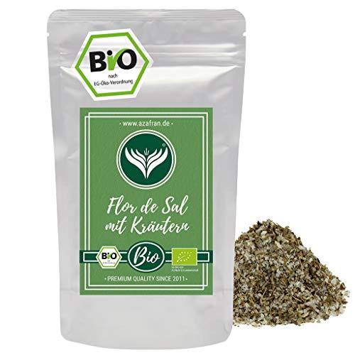 Azafran BIO Flor de Sal mit Kräutern | Kräutersalz | Fleur de Sel | Salzblume 250g