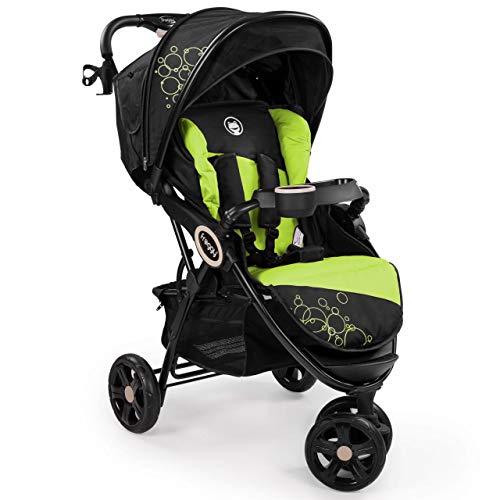 Froggy® Kinderbuggy DINGO Kinderwagen Buggy Jogger ultraleicht 5-Punkt-Sicherheitsgurt kompakt zusammenklappbar Liegefunktion Sonnenverdeck LIME