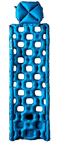 Klymit Unisex-Adult Aufblasbare Outdoor Campingmatte Luftmatratze Inertia O Zone schlafmatte, Blau, 215x75 cm