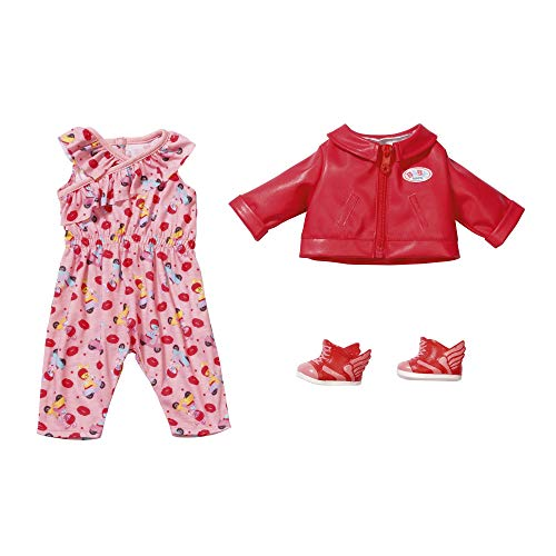 Zapf Creation 828823 BABY born City Scooter Outfit Puppenkleidung 43 cm, 4-teiliges Set