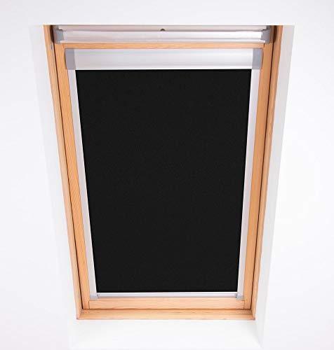 Bloc Skylight Rollo 4(66/118) für Fakro Dachfenster Blockout, schwarz